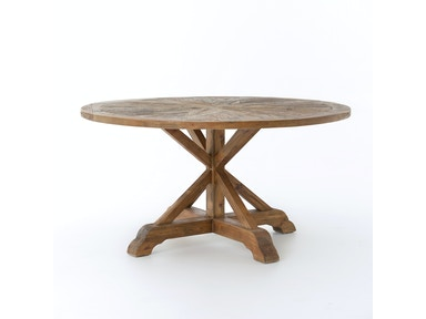 Opio Round Dining Table 59-Bleached Pin