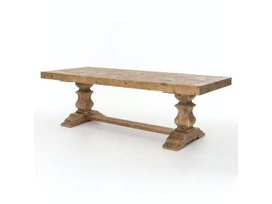 Castle 98 Dining Table-Bleached Pine