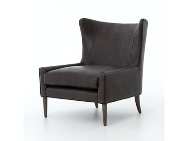 Marlow Wing Chair-Vintage Black