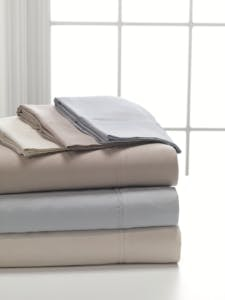 Split King DreamFit 3-Degree 300 Thread Count Select World Class Cotton Sheet Set Taupe