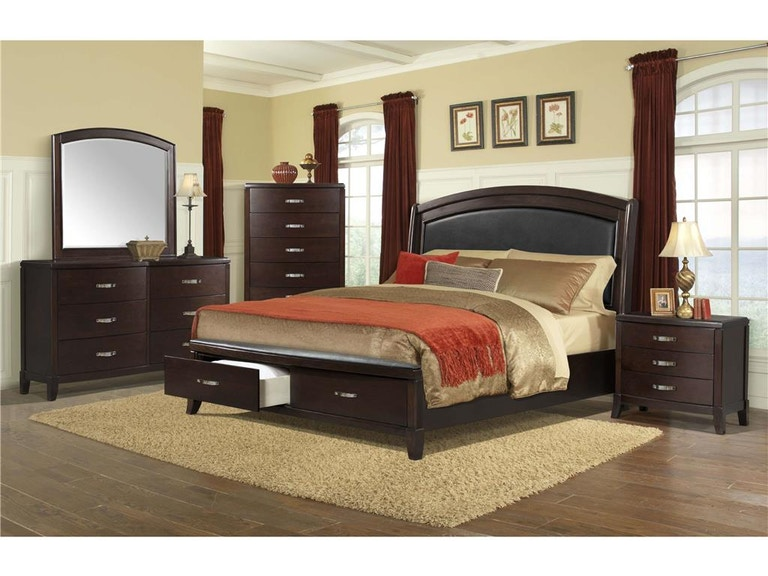 Elements Bedroom Delany King Storage Bed
