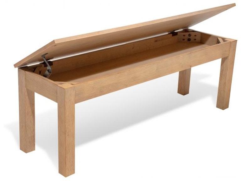 Folio Select Gather Dining Bench Hidden Storage Under Seat Din Bnch