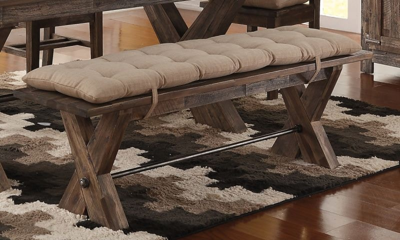 Ordinaire Living Room Park Dining Bench With Seat Cushion