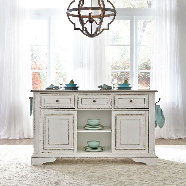 Liberty Furniture Marlow Marble Top Kitchen Island Din