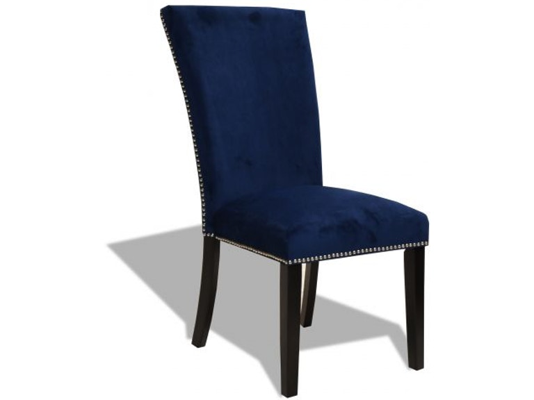 Magnificent Camilla Blue Upholstered Side Chair Bralicious Painted Fabric Chair Ideas Braliciousco