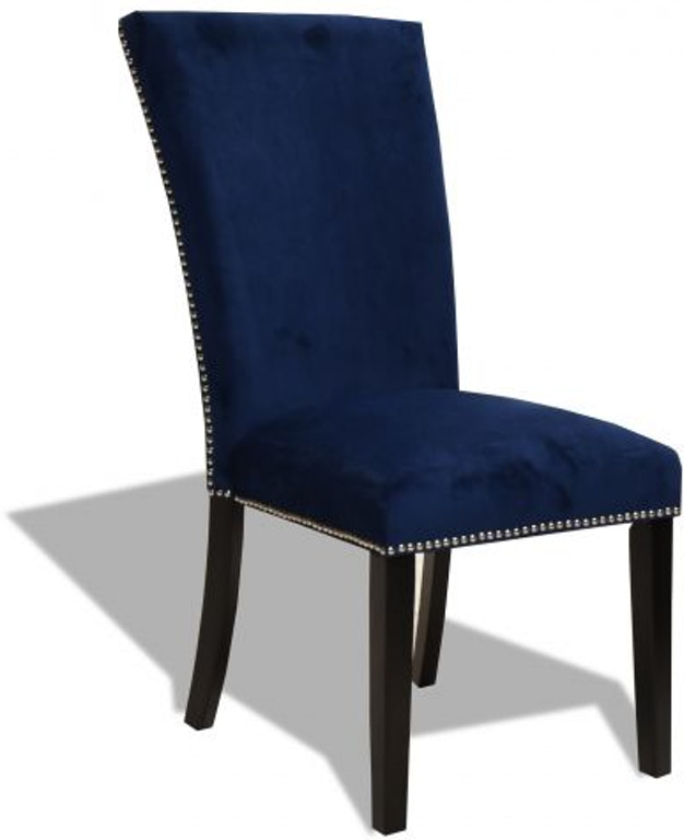Peachy Camilla Blue Upholstered Side Chair Bralicious Painted Fabric Chair Ideas Braliciousco