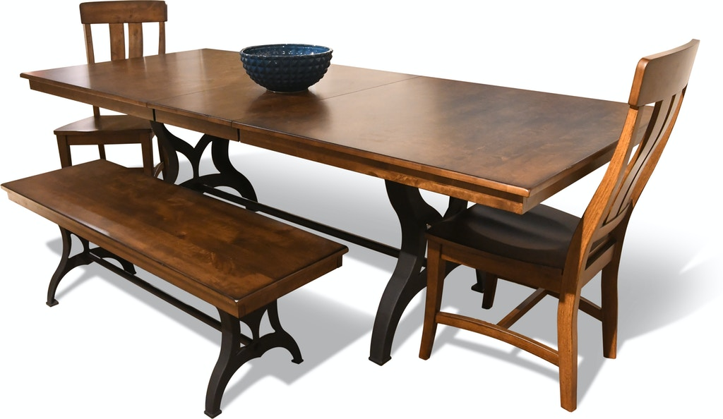 Phenomenal District Dining Table 4 Chairs And Bench Free Creativecarmelina Interior Chair Design Creativecarmelinacom