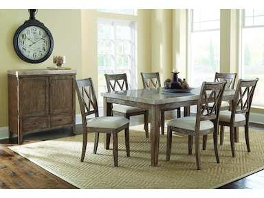 Franco Dining Table and Four Chairs