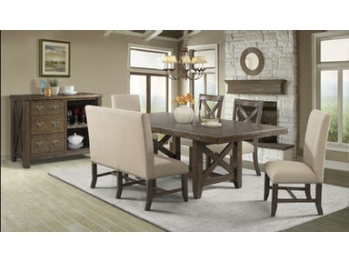 Frank Dining Table, 4 Chairs and Bench Free