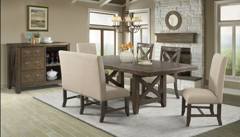 Elements Frank Dining Table, 4 Chairs And Bench Free FRANKDINE Part 40