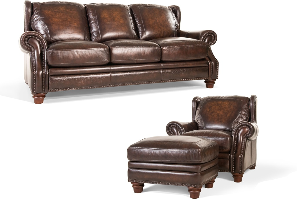 Frankford Leather Sofa, Chair and Ottoman