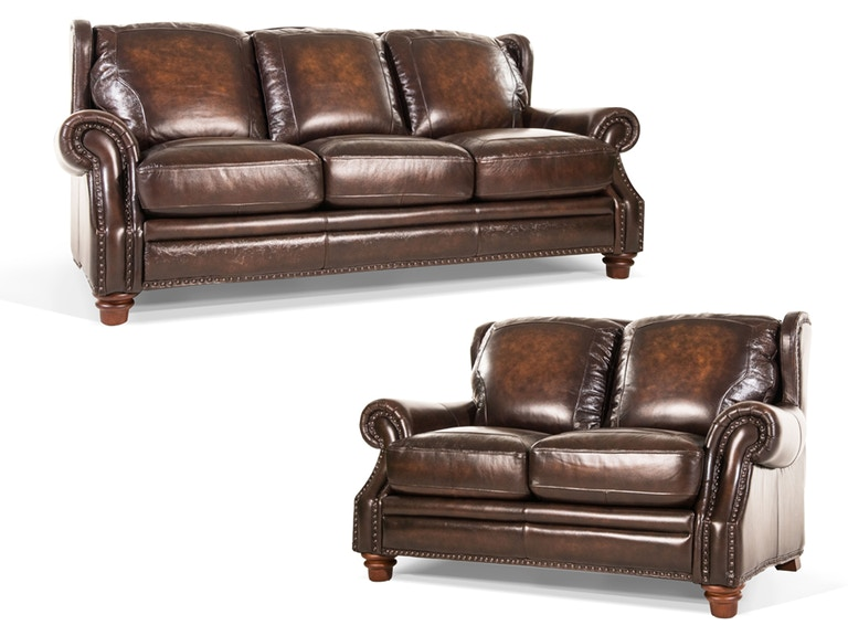 Futura Frankford Leather Sofa And Loveseat 55frankford