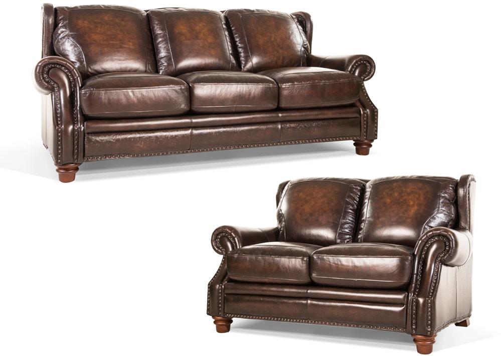 Futura Living Room Frankford Leather Sofa And Loveseat ~ All Leather Sofa And Loveseat