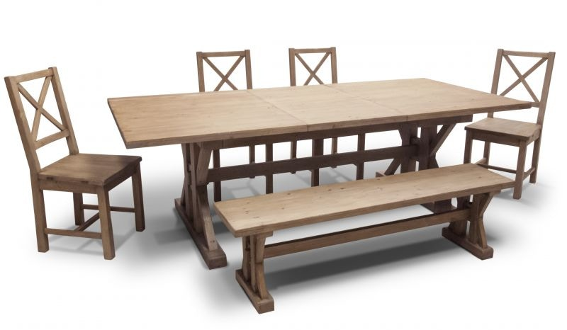 Gardner Dining Table, 4 Chairs And Bench