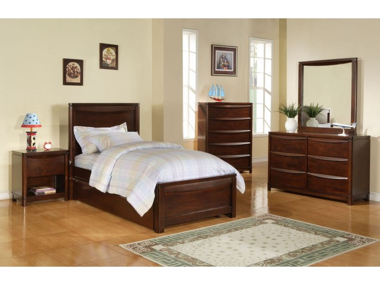 Folio Select Youth Bedroom Greenville Full Bedroom Set Mattress Free
