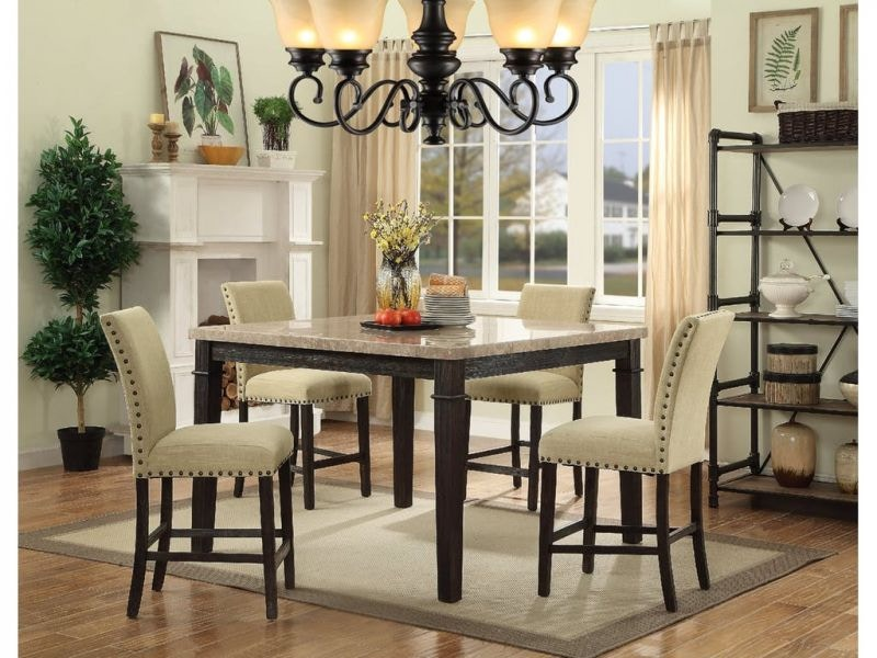 Greystone Pub Table And 6 Pub Chairs