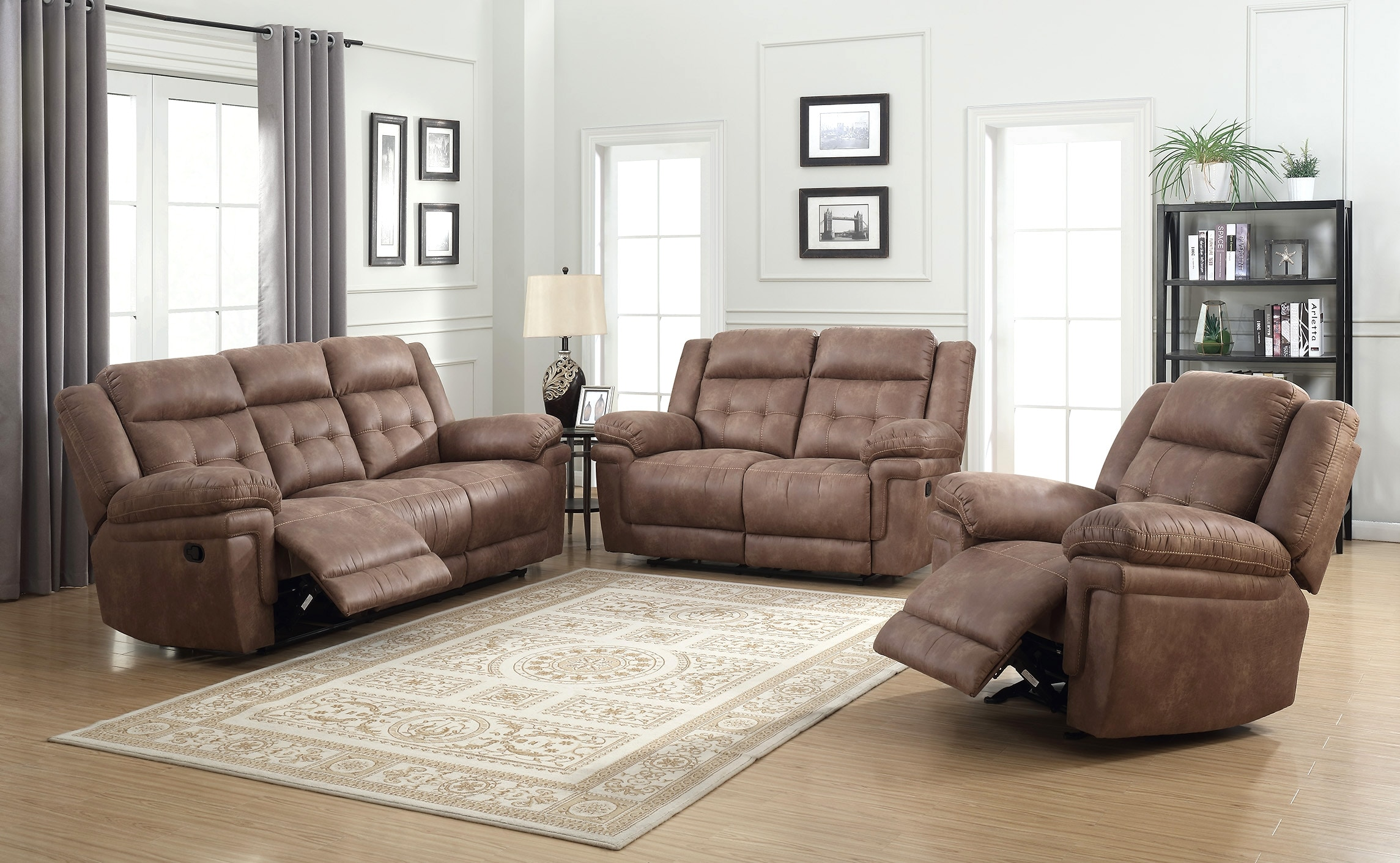 Ian Reclining Sofa And Loveseat, Recliner FREE