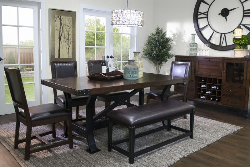 Iron Works Dining Bench DIN BNCH IRONWORKS Part 93