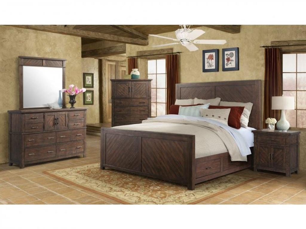 Elements Bedroom Jax Queen Bed Set, Chest and Mattress FREE