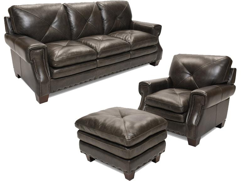 Futura Juno Leather Sofa Chair And Ottoman 56juno