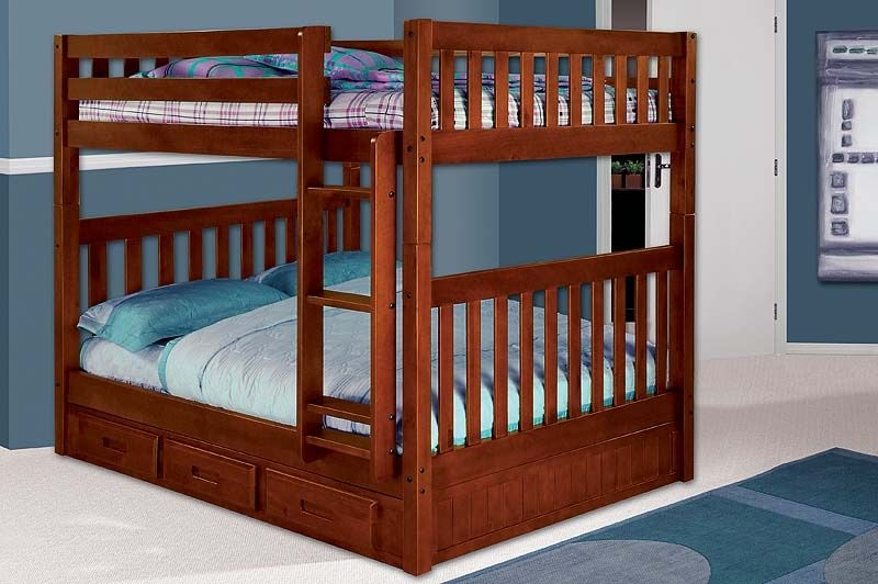 kennedy full storage bunkbed mattresses free