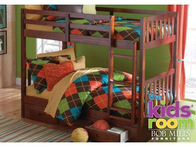 Kennedy Twin/Twin Storage Bunkbed, Bedding FREE