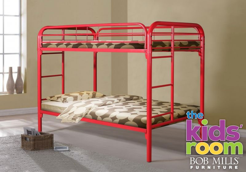 Discovery Furniture Easton Red Twin Metal Bunkbed