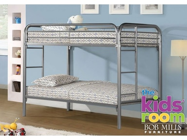 Easton Silver Twin over Twin Metal Bunkbed