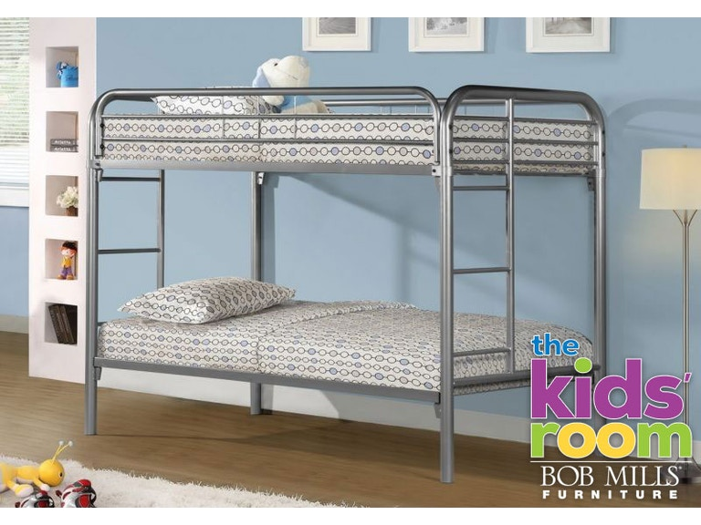 Discovery Furniture Easton Silver Twin Metal Bunkbed Mattresses Free Kid Bunk Eastonsilve