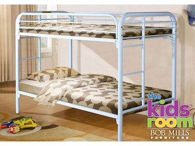 Easton White Twin over Twin Metal Bunkbed