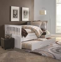 Donco Youth Bedroom Chesapeake White Twin Trundle Bed Bob Mills Furniture Tulsa Oklahoma