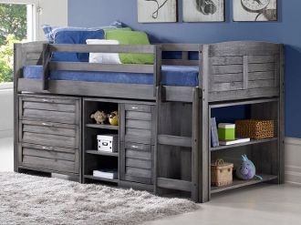 Youth Bedroom Harrison Loft Bed With Storage, Mattress FREE