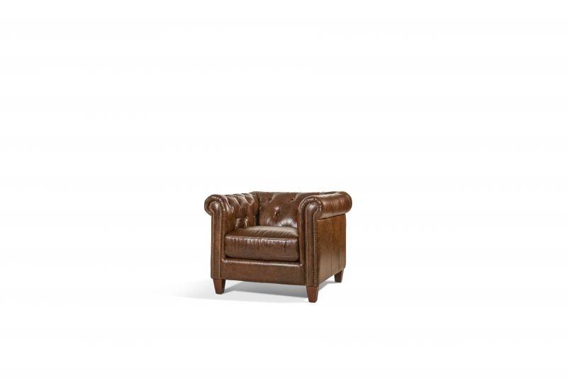 Exceptionnel Cigar Leather Chair LEA CHAR CIGAR