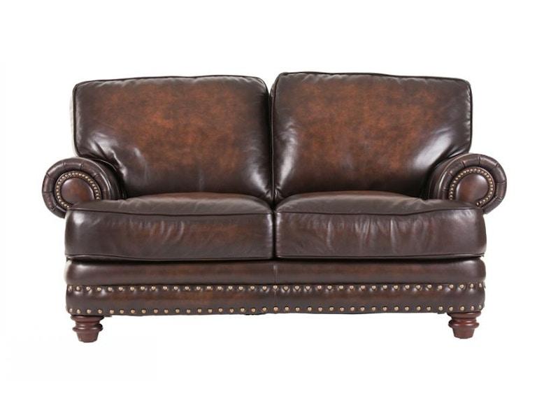 Futura Living Room Baker Leather Loveseat