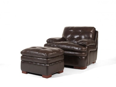 Caldwell Leather Ottoman