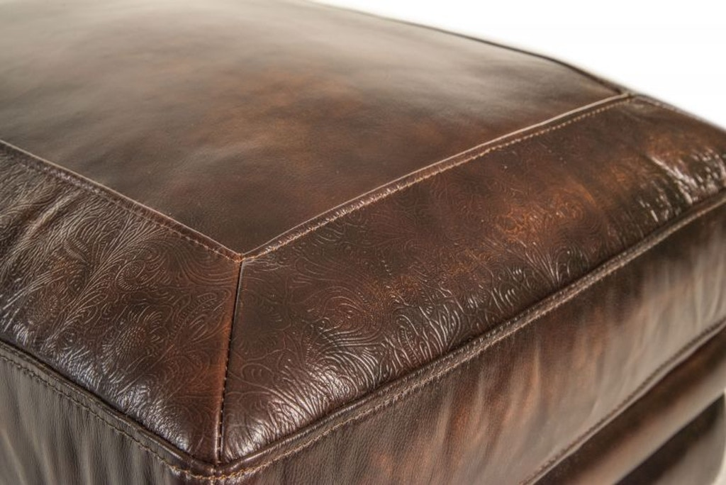 Astounding Frankford Leather Ottoman Creativecarmelina Interior Chair Design Creativecarmelinacom