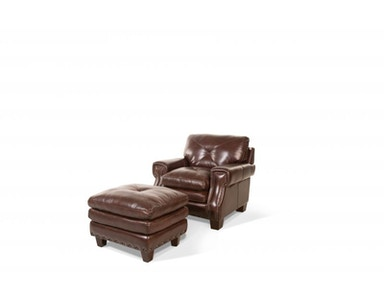Kendall Leather Ottoman