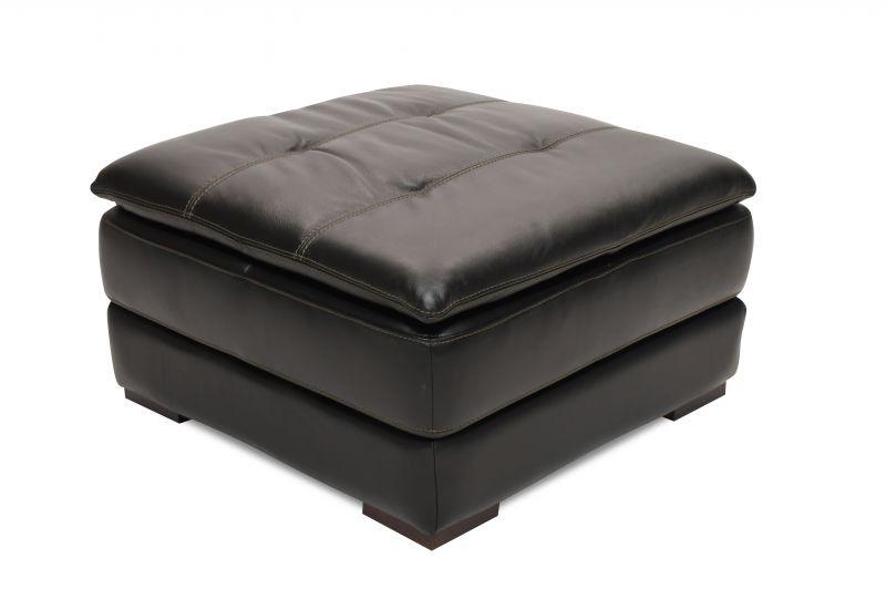 Matera Leather Storage Ottoman LEA OTTO MATERA