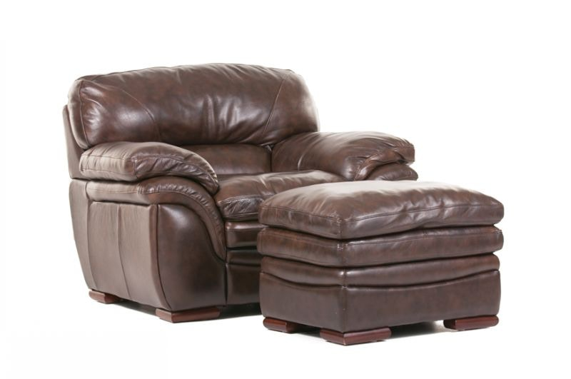 Futura living room santa cruz leather sofa chair ottoman for Santa ottoman hotel