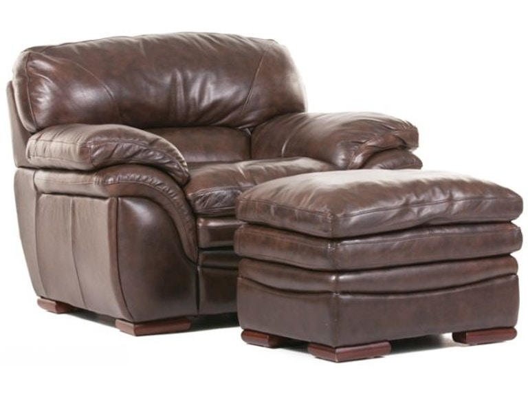 Awesome Santa Cruz Leather Ottoman Creativecarmelina Interior Chair Design Creativecarmelinacom