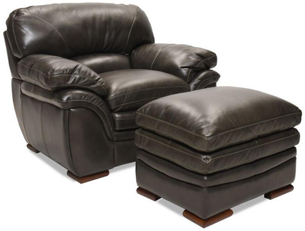 Swell Santa Cruz Gray Leather Ottoman Creativecarmelina Interior Chair Design Creativecarmelinacom