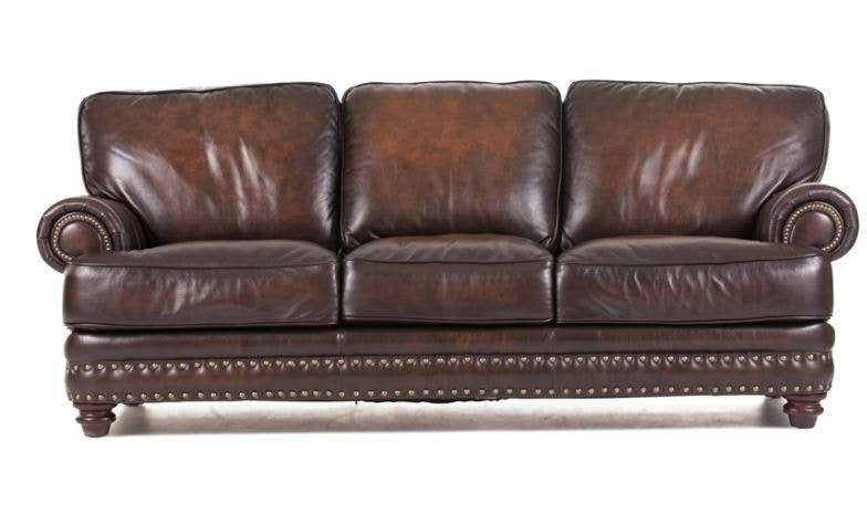Futura Living Room Baker Leather Sofa