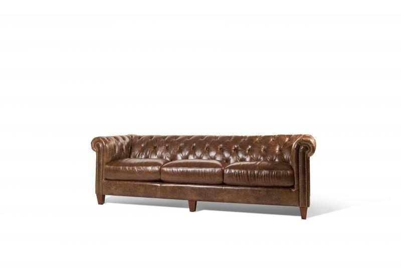 Futura Cigar Leather Sofa LEA SOFA CIGAR