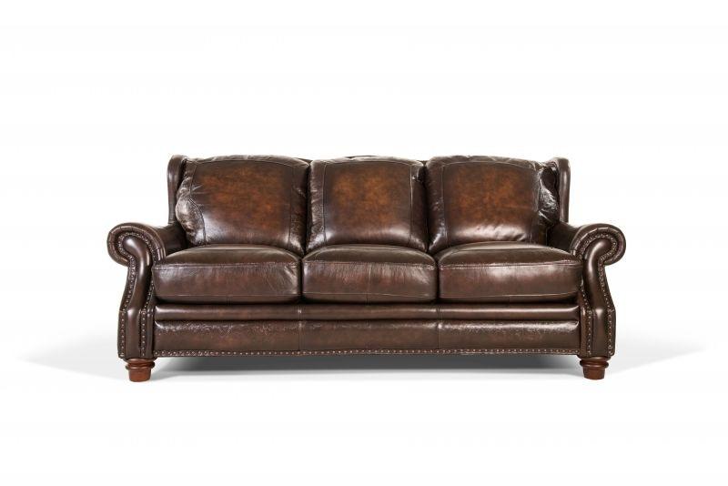 Fresh Futura Living Room Frankford Leather Sofa NO37