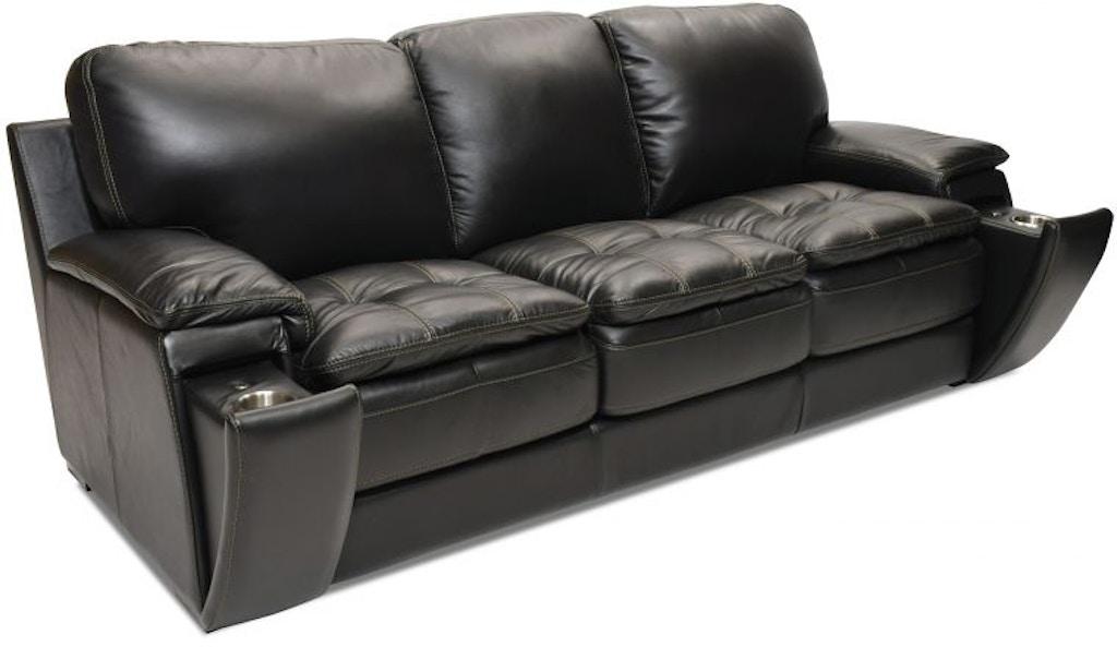 Futura Matera Leather Sofa With Hidden Cupholder And Usb Lea