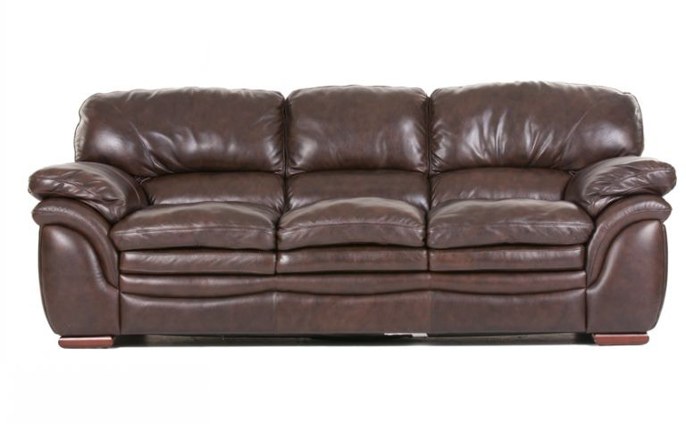 Futura Living Room Santa Cruz Leather Sofa Chair and Ottoman