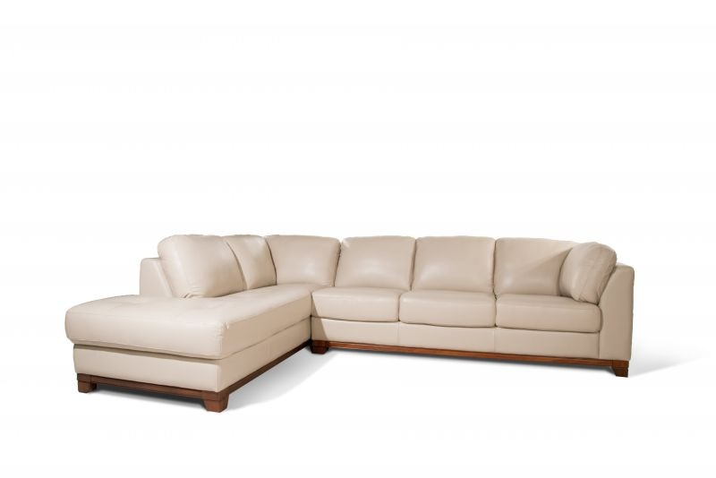 Futura Living Room Morgan Two Piece Leather Sectional 55MORGAN Bob Mills Fu
