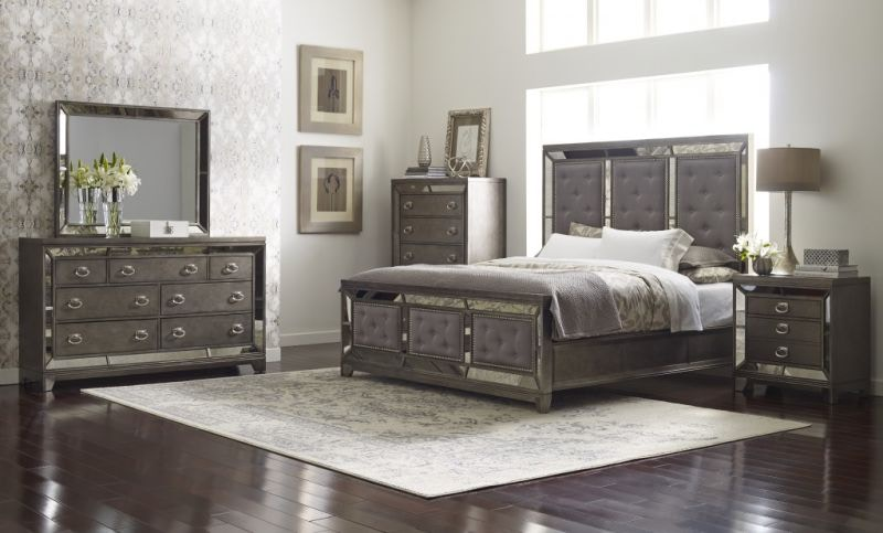 Merveilleux Avalon Lenox King Bed, Dresser, Mirror And Nightstand
