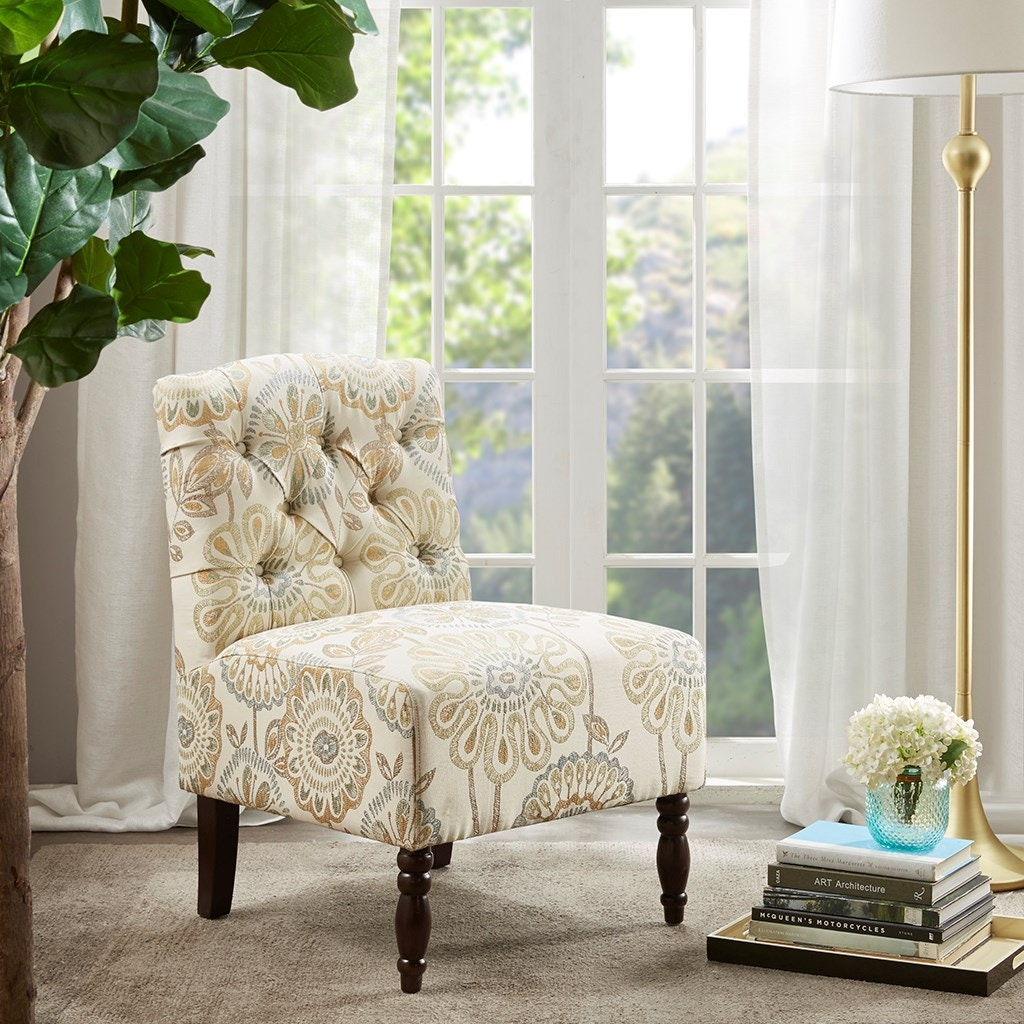 Awesome Floral Accent Chair Remodelling