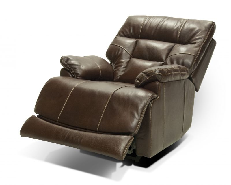 El Paso Walnut Power Lumbar U0026 Headrest Recliner